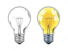 Buy Shining Electric Bulb by Aleksangel on GraphicRiver. Isolated on white background Wwf Poster, Lamp Light, Light Bulb, Lightbulb Tattoo, Blog Design Inspiration, Illustrations, Chalkboard Art, Vector Graphics, Wallpaper Backgrounds