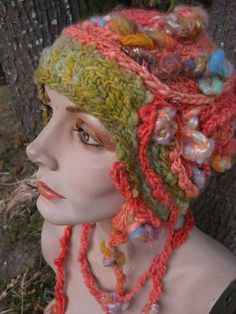 "free form crochet hat by heather lightbody ""girl with a hook"""