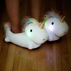 These+Magical,+Light-Up+Unicorn+Slippers+Will+Make+You+Feel+Like+A+Kid+Again - CountryLiving.com