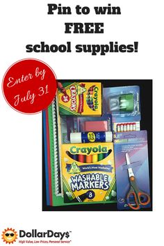 Enter our #BackToSchoolContest by July 31 for the chance to win school supplies! Simply pin the products you want to win here: https://woobox.com/3tamg7