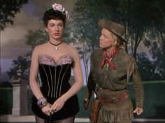 Allyn Ann McLerie and Doris Day in Calamity Jane (1953).