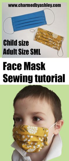 Donate to help support! Welcome to the Facemask tutorial, this facemask is great for illness (when protecting others from large particles) , renovating, protecting from large dust particles. **i know this tutorial sparks rage and moronic behaviour Kids Patterns, Sewing Patterns Free, Sewing Tutorials, Sewing Hacks, Sewing Projects, Sewing Ideas, Sewing Crafts, Diy Crafts, Face Masks For Kids