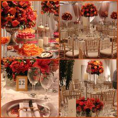Casamento laranja e telha .