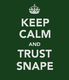Trust Snape <3  I really need some type of print of this...  Or a t-shirt!  That would be amazing.
