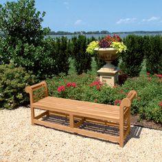 Teak Lutyens Backless Bench - Lutyens Benches - Teak Wood Backless Lutyens Bench - Country Casual