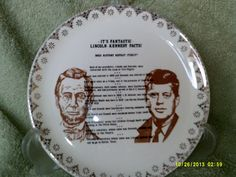 The Lincoln-Kennedy Facts! Collectors Plate: Strange but True on Etsy, $8.50