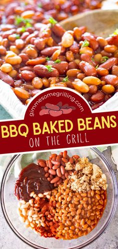 Find yourself making this quick and easy grilling recipe again and again! Thanks to the addition of BBQ sauce, these baked beans are a delicious twist on the classic and always a hit. What's more, 6 ingredients are all you need for this side dish idea! Save this pin! Summer Grilling Recipes, Potluck Recipes, Summer Recipes, Dinner Recipes, Barbecue Side Dishes, Side Dishes Easy, Side Dish Recipes, Easy Family Meals, Quick Easy Meals