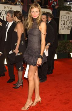 Cameron Diaz and Chanel Fall 2002 HC High Neck Sleeveless Lace Dress (#699853)