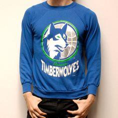 TIMBERWOLVES basketball NBA crew neck sweatshirt by CairoVintage