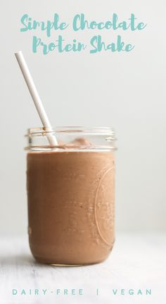 Simple Chocolate Protein Shake
