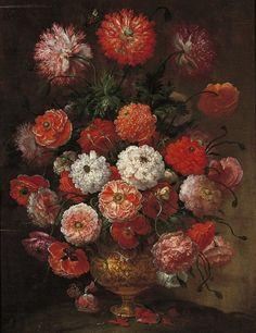 Bartolomeo Bimbi Wild Roses 1717 - still life quick heart Art Floral, Renaissance, Giuseppe Arcimboldo, Fries, Jasper Johns, Tribute, Metal Vase, Villa, Still Life Art
