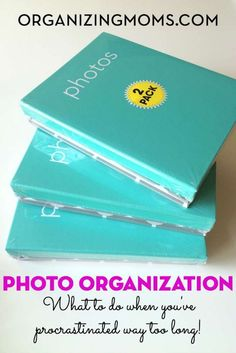 Step-By-Step Photo Organization Photo Organization. What to do when you've put it off forever, and it's gotten out of control. Organized Mom, Getting Organized, Foto Fun, Photo Storage, Scrapbooking, Storage Organization, Organizing Tips, Organising, Journal Organization