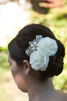 wedding hair clips  thank you for your support Tracy by lemonring, $18.99