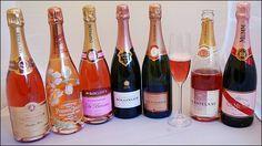 •    Louis Roederer Cristal Rose •    1998 Veuve Clicquot La Grande Dame Rose •    1996 Moet et Chandon Dom Perignon Rose •    2003 Taittinger Comtes de Champagne Brut Rose •    2002 Perrier Jouet Fleur de Champagne Rosé