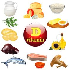 Vitamin d and plant vector image on VectorStock Food For Strong Bones, Health And Nutrition, Health Tips, Too Much Vitamin D, Vitamin D Foods, Taking Vitamin D, Healthy Life, Healthy Living, Healthy Food