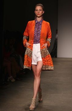 Fashion that is inspired by aboriginal art.  Roopa Pemmaraju's SS12/13 collection