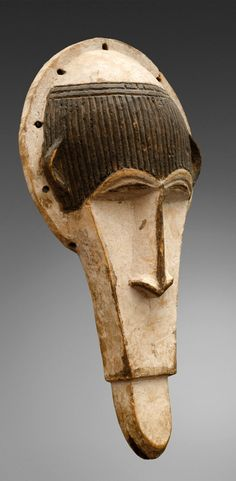 Africa | Mask from the Ibo people of Nigeria | Wood and pigment