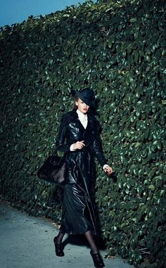 Lara Stone looking Film Noir Femme Fatale shot by Peter Lindbergh - Ralph Lauren Collection