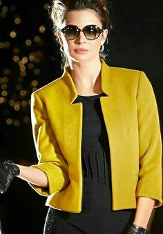 Yellow blazer jacket #blazer