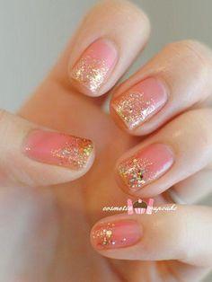 Pink & Gold Mani