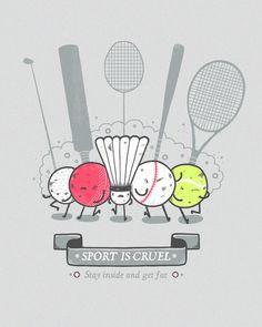 cool funny graphic design chicquero sport is cruel