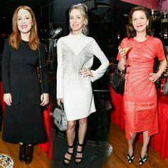 #JulianneMoore, #NaomiWattsand #MaggieGyllenhaal celebrating the launch of #StellaMcCartney's new women'sAutumn 2017 Collection last night in NYC! #StellaXCottonClub • • • • • #JulianneMoore, #NaomiWatts e #MaggieGyllenhaal comemorando o lançamento da nova coleção de outono 2017 feminina de #StellaMcCartney ontem à noite em NYC! #StellaXCottonClub