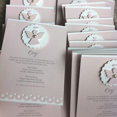 "For baptism / first comunion"" Confirmation Cards, Baptism Cards, Baby Baptism, First Communion Cards, First Holy Communion, Communion Invitations, Christening Invitations, Invitation Cards, Party Invitations"