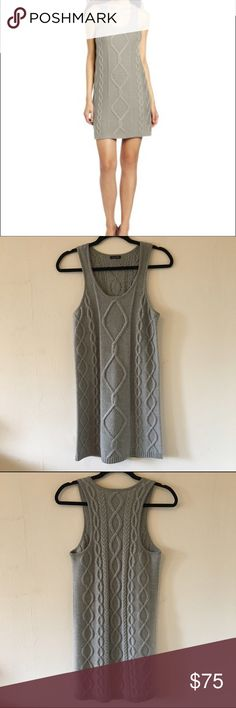 Magaschoni Moonlight Cable Knit Dress Beautiful luxurious grey cable knit wool dress. Lightly worn. Perfect for the all the up coming holiday parties. Lightly worn, good used condition. No trades, no PayPal magaschoni Dresses Mini