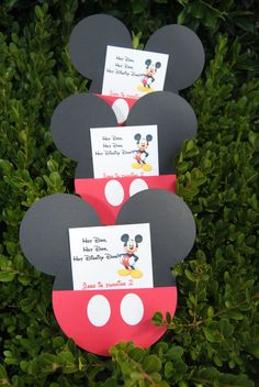 12 Mickey Mouse Invitations Mickey Mouse Party by HelloFaith, $21.00