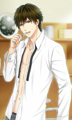 """Shuichiro Momoi, Finally in Love again - The guys in this game look so hot, but I don't want to play a year old >w<"""""""" Anime Sexy, Cool Anime Guys, Handsome Anime Guys, Anime Boys, Manga Art, Manga Anime, Fire Emblem Azura, Blonde Guys, Anime Love Couple"""
