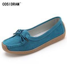 18.99$  Buy now - http://alifuh.shopchina.info/go.php?t=32795966260 - Plus Size 41 Women Flats Soft Bottom Suede Genuine Leather Women Flat Shoes 2017 Ladies Moccasins Driving Shoes Casual SNE-755  #magazine