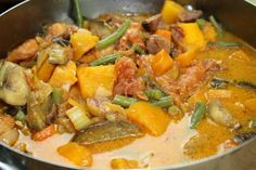 IMG_6016 #Meatless Monday meal: Squash and Long Green Beans in #Coconut milk #FilipinoFood (revisited)