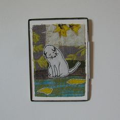 Wistful White Kitty - embroidered picture in vintage tin Tin, Arts And Crafts, My Arts, Felt, Kitty, Pictures, Vintage, Little Kitty, Photos