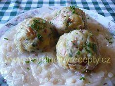 Krakonošovy knedlíky Czech Recipes, Russian Recipes, Ethnic Recipes, Dumplings, Gnocchi, Potato Salad, Side Dishes, Bread, Decor