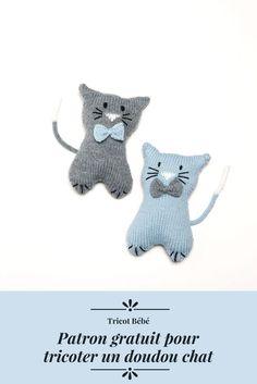 Patron doudou gratuit pour tricoter un chat / Patron pour tricoter un doudou chat / DIY enfant / Knitting Patterns for kids