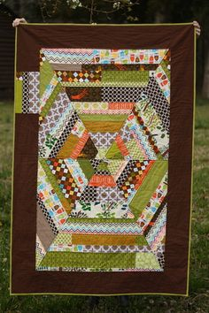 Sixth Time's the Charm Crib Quilt could make 6 newspaper triangles to sew on.