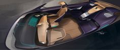BMW i7 Concept - Interior Design Sketch