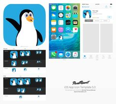 Penguin Pals app icon template