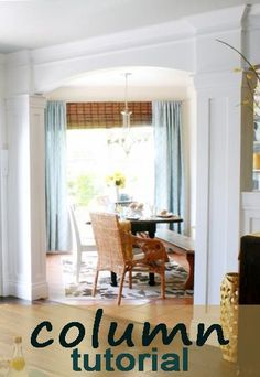 How to build a column tutorial! remodelaholic.com #living_rooms #columns #modlings