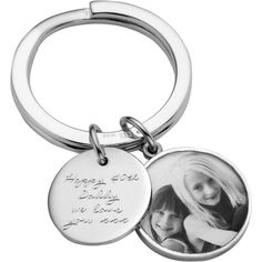 Between You and I Personalised Message Tag Fob Keyring, Large ($130) ❤ liked on Polyvore featuring accessories