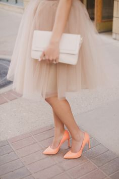 TULLE Winter Skirt Outfit, Skirt Outfits, Winter Outfits, Church Outfits, Church Clothes, Peach Blush, Tulle Skirts, Skirt Suit, My Style