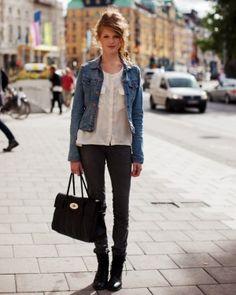 ... Denim Jacket , Jean jacket , street style