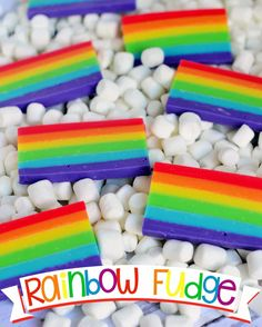 love how perfect this Easy Rainbow Fudge is for St. Patrick's Day, but it… love how perfect this Easy Rainbow Fudge is for St. Patrick's Day, but it's also great for birthdays and for. Rainbow Sweets, Rainbow Desserts, Rainbow Food, Rainbow Jello, Rainbow Stuff, Rainbow Zebra, Rainbow Crafts, Rainbow Unicorn, Rainbow Colors