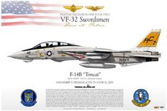 "F-14B Tomcat from the ""Swordsman"" of Fighter Squadron VF-31"