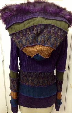 Recycled SweaterSwoodie Hoodie Fairy Jacket by SewWonderifical