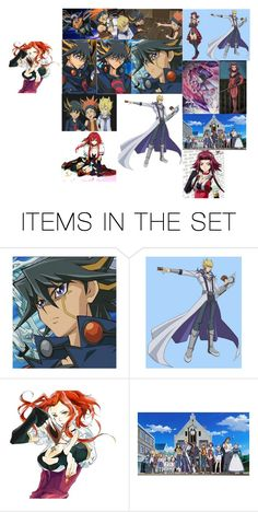 """""""My fave Yu-Gi-Oh series: Yu-Gi-Oh 5D's"""" by samluvs1dforever ❤ liked on Polyvore featuring art"""