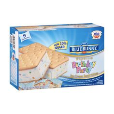 Blue Bunny Premium Birthday Party Ice Cream Sandwiches, 4.25 fl oz, 8... ❤ liked on Polyvore featuring food, food & drinks, comida, food and drink and jedzenie