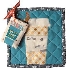 tutorial: Latte to Go mug rug and gift card sleeve