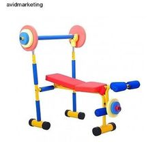 New Kids Weight Bench Set Exercise Equipment Fitness Strength Home Gym Colorful