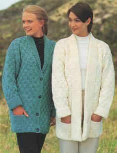 PDF Ladies Cardigan Knitting Pattern : by PDFKnittingCrochet
